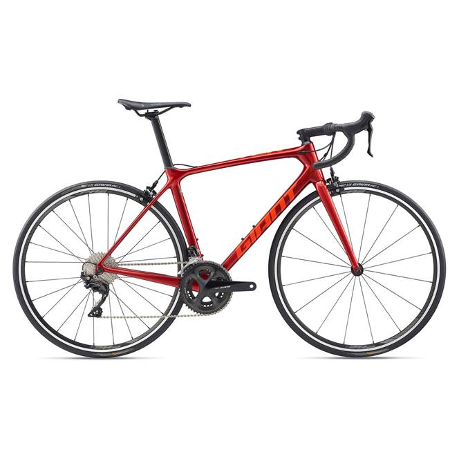 2020 Giant TCR Advanced 2 Pro Compact Carbon Road Bike in Red
