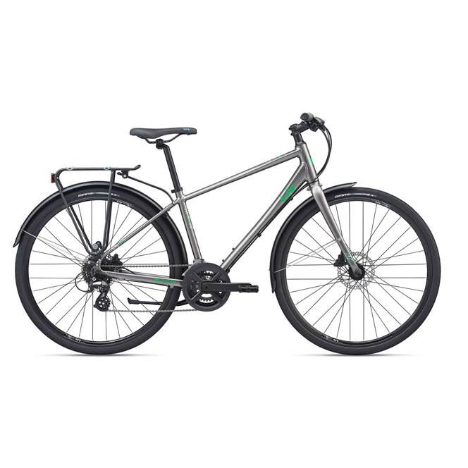2020 Liv Alight 2 City Disc Hybrid Bike in Silver