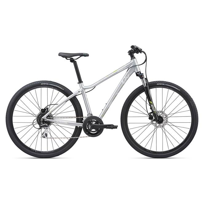 2020 Liv Rove 3 Disc Hybrid Bike in Silver