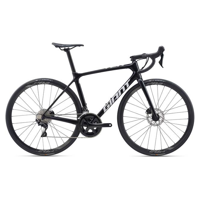 2020 Giant TCR Advanced 2 Disc Compact Carbon Road Bike in Black