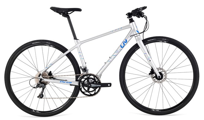 2019 Liv Thrive 3 Womens Flat Bar Road bike in Silver