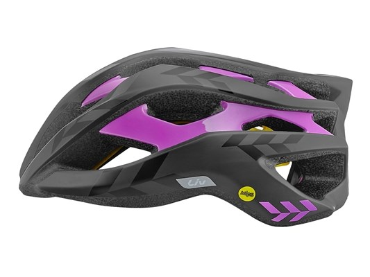 Liv REV MIPS Matt Black and Purple Ladies Road Helmet