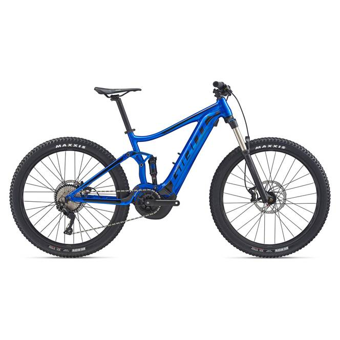 2020 Giant Stance E+ 2 Electric FS Mountain Bike in Blue