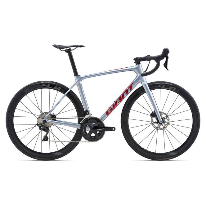 2020 Giant TCR Advanced Pro 3 Disc Carbon Road Bike in Silver