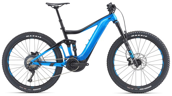 2019 Giant Trance E+ 2 Pro 25km Mens FS Electric Mountainbike in Blue