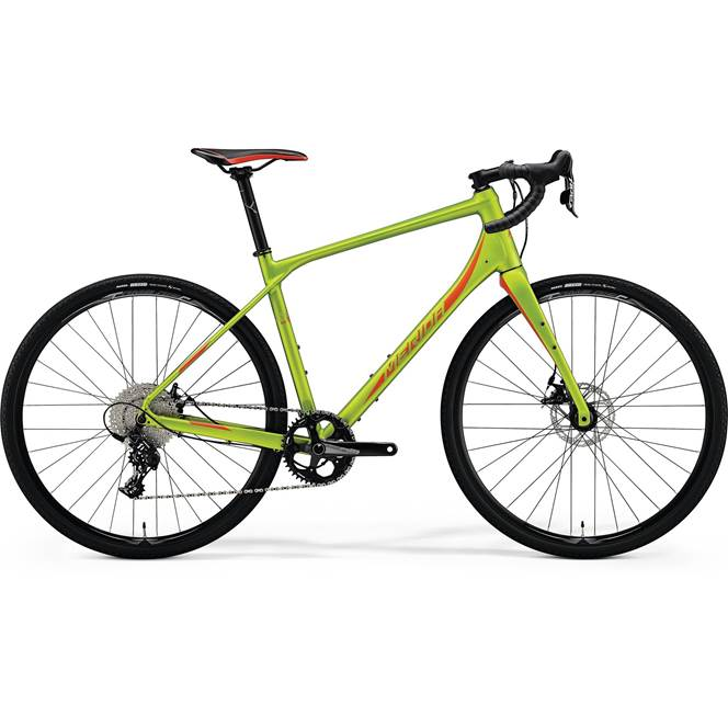 2018 Merida Silex 300 Matt Olive and Red Gravel Bike